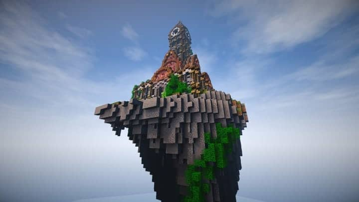 prof_artifex tower of time minecraft building ideas clock floating download 8