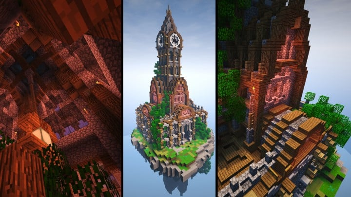 prof_artifex tower of time minecraft building ideas clock floating download