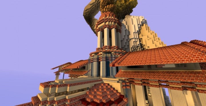 Alitheia Wings of Justice Modern Organic Greek Courthouse minecraft amazing builds 10