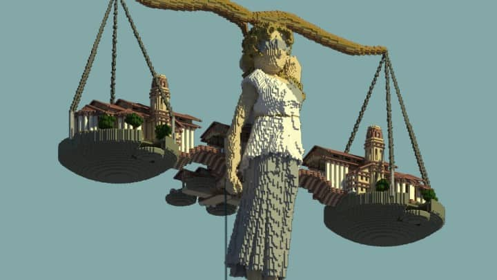 Alitheia Wings of Justice Modern Organic Greek Courthouse minecraft amazing builds 4