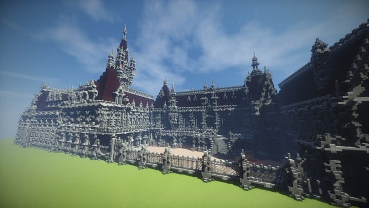 Benedictine Palace A Neo-Gothic palace minecraft building ideas amazing stone old 12