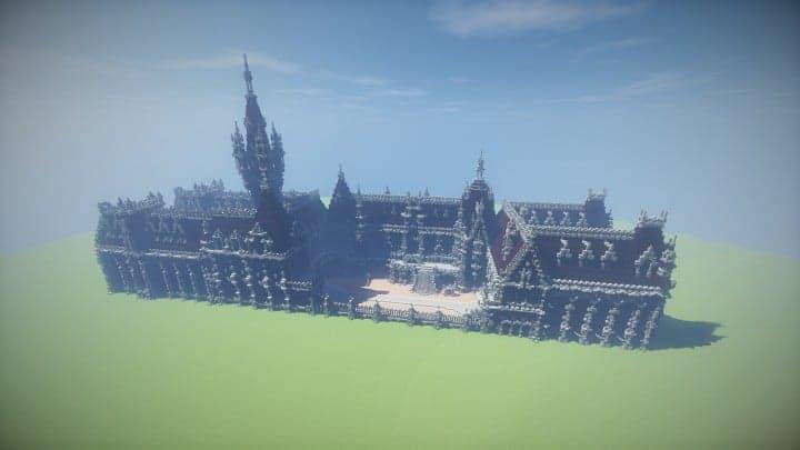 Benedictine Palace A Neo-Gothic palace minecraft building ideas amazing stone old 2