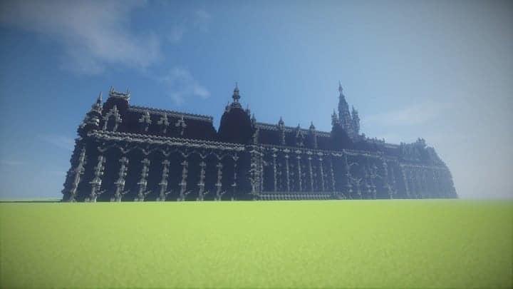Benedictine Palace A Neo-Gothic palace minecraft building ideas amazing stone old 4