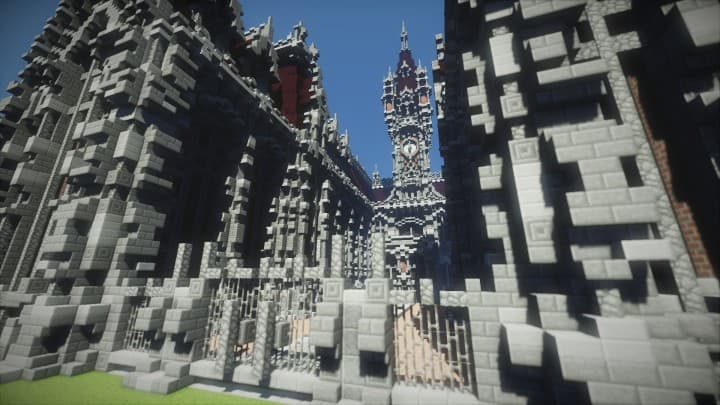 Benedictine Palace A Neo-Gothic palace minecraft building ideas amazing stone old 7