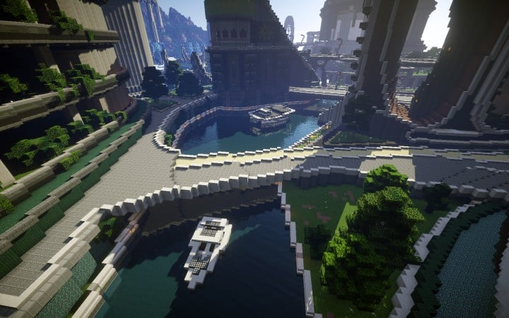 Climate Hope City Minecraft building ideas download amazing crazy dome 10