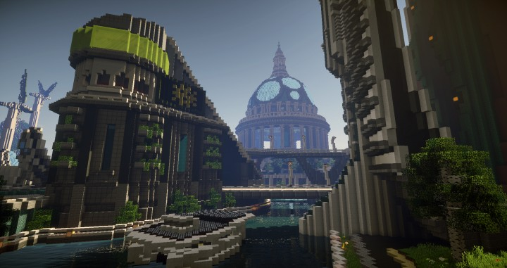 Climate Hope City Minecraft building ideas download amazing crazy dome 5