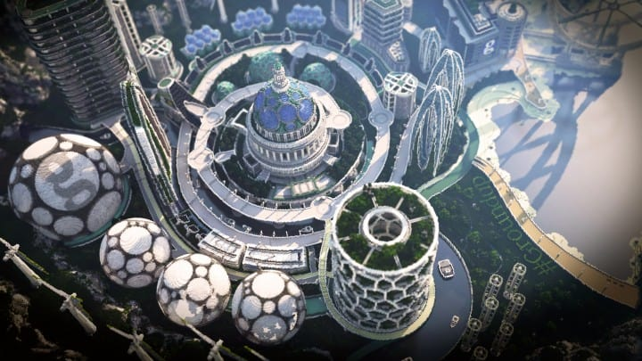 Climate Hope City Minecraft building ideas download amazing crazy dome