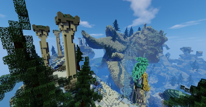 Frostbite frozen island ice cold minecraft building ideas huge face mountain 13