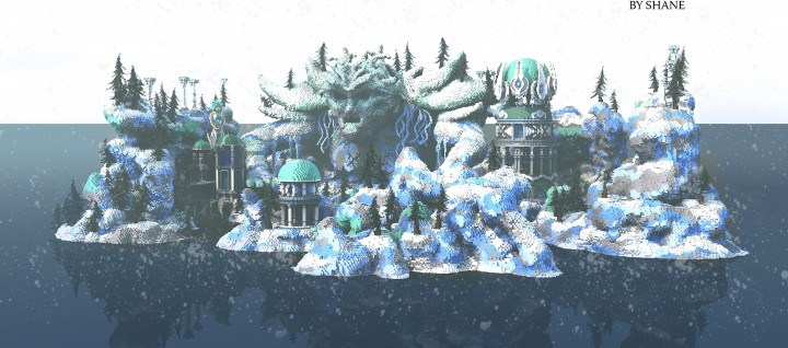 Frostbite frozen island ice cold minecraft building ideas huge face mountain