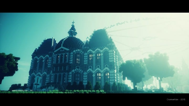 Le Château des Cieux amazing minecraft build floating house mansion fantacy 10