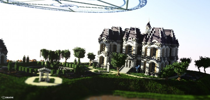 Le Château des Cieux amazing minecraft build floating house mansion fantacy 3