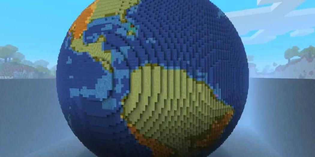 майнкрафт pe как сделать круглую планету #4