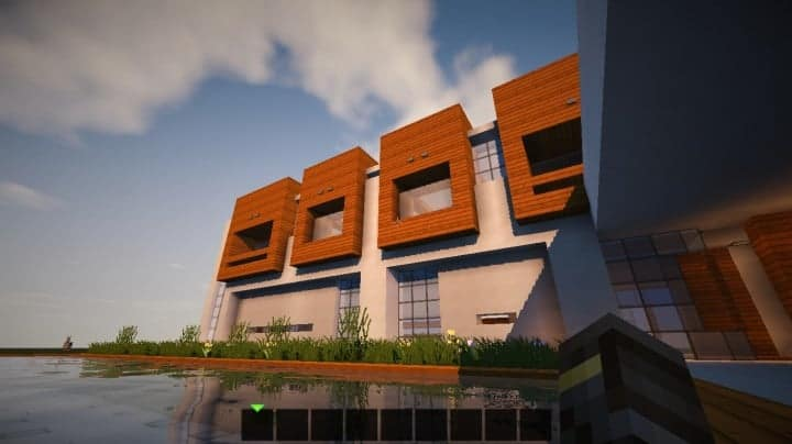 The Escape Modern House 1.8 minecraft building ideas download save 2