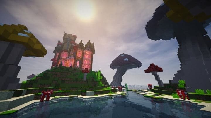 The Mushroom Mansion minecraft creative building ideas unique huge 12