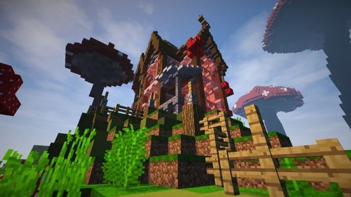 The Mushroom Mansion minecraft creative building ideas unique huge 5