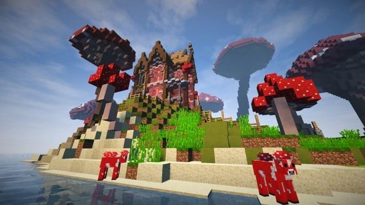 The Mushroom Mansion minecraft creative building ideas unique huge 6