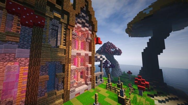 The Mushroom Mansion minecraft creative building ideas unique huge 8