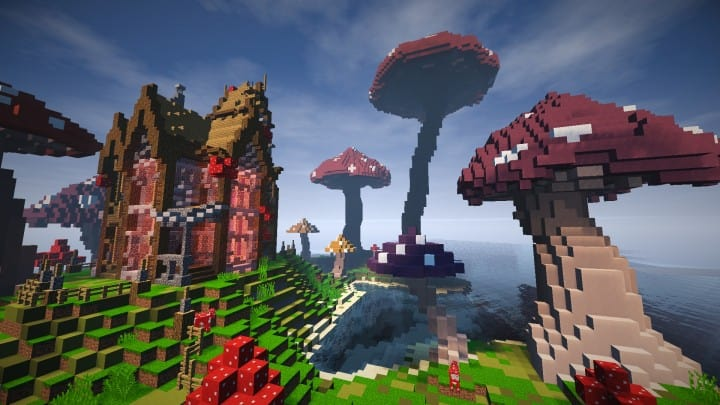The Mushroom Mansion minecraft creative building ideas unique huge