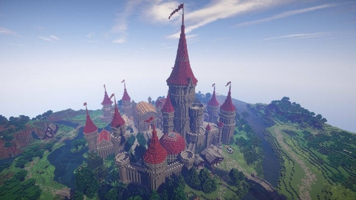 Tshara's Fantasy castle minecraft building ideas download amazing huge 3