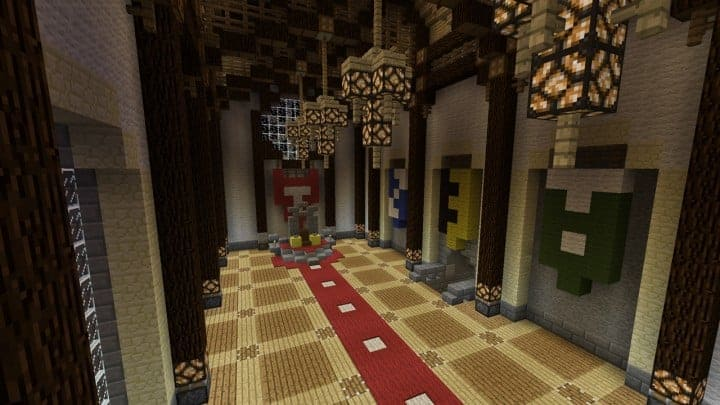 Minecraft Castle Dining Hall Minecraft Castle Map Wallpapers