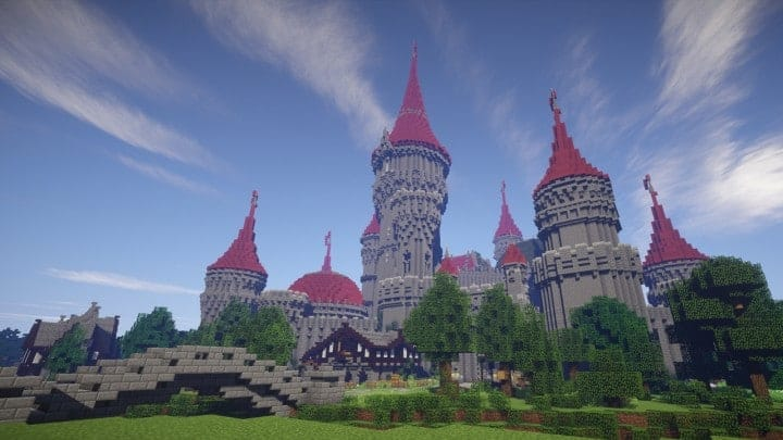 Tshara's Fantasy castle minecraft building ideas download amazing huge