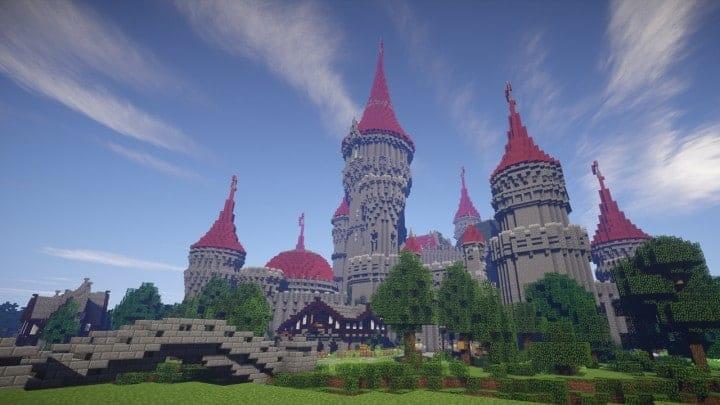 Tshara's Fantasy castle minecraft building ideas download amazing huge
