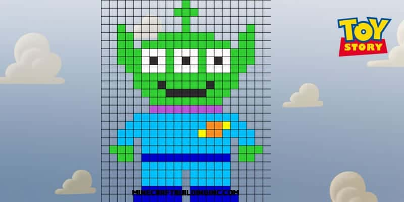 Photo of Toy Story Alien Pixel Template