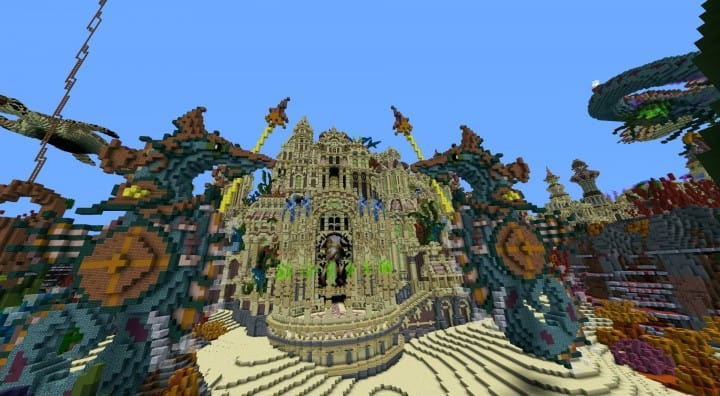 Echoes from The Deep under water castle minecraft building ideas 15