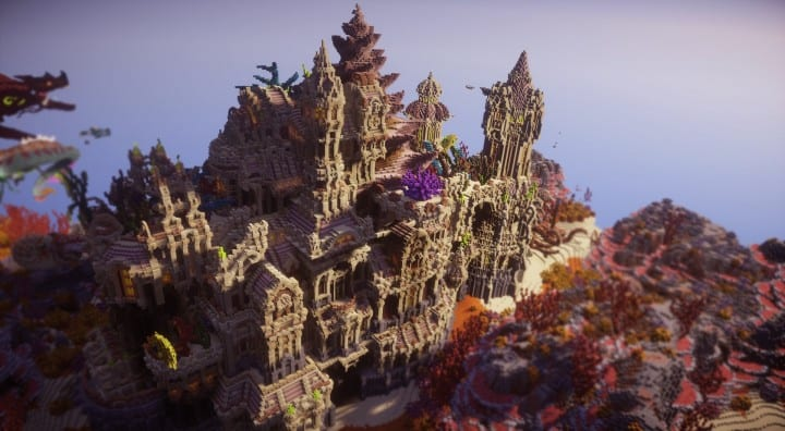 Echoes from The Deep under water castle minecraft building ideas 6