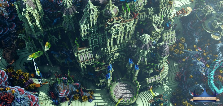 Echoes from The Deep under water castle minecraft building ideas