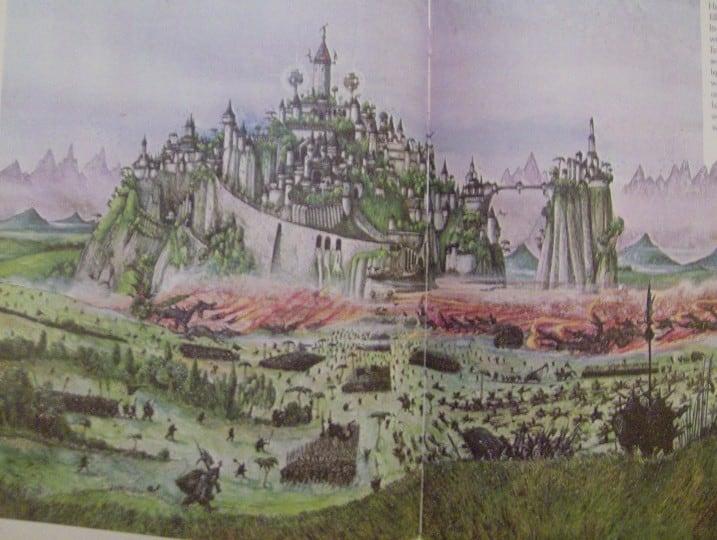 Elvish Outpost Arien Helyanwë minecraft build waterfall tower sky bridge sail boat 10