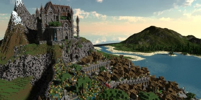 Regensbergen castle minecraft building inc for Mountain designs garden city