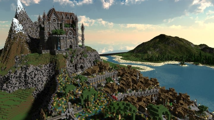 Regensbergen minecraft castle building ideas download hill top wall city
