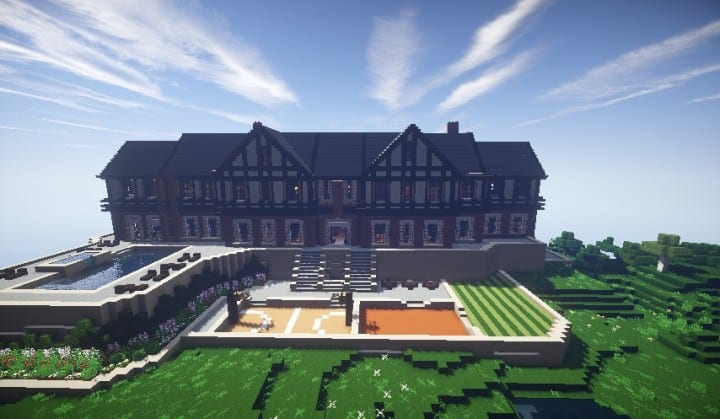 Tudor Mansion minecraft building ideas big amazing house home download interior 2