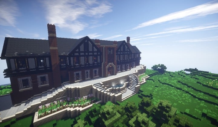 Tudor Mansion minecraft building ideas big amazing house home download interior
