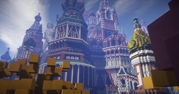 Faberzhe Palace minecraft underwater buiding idea sea castle tower 10