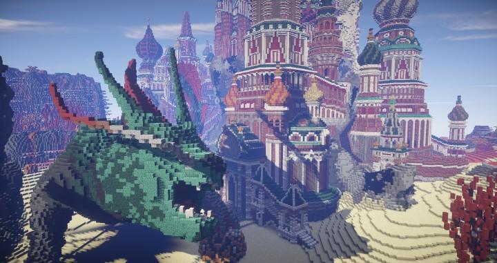 Faberzhe Palace minecraft underwater buiding idea sea castle tower 11