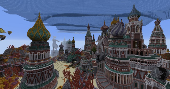 Faberzhe Palace minecraft underwater buiding idea sea castle tower 14