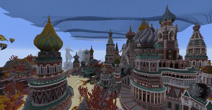 Faberzhe Palace minecraft underwater buiding idea sea castle tower 14