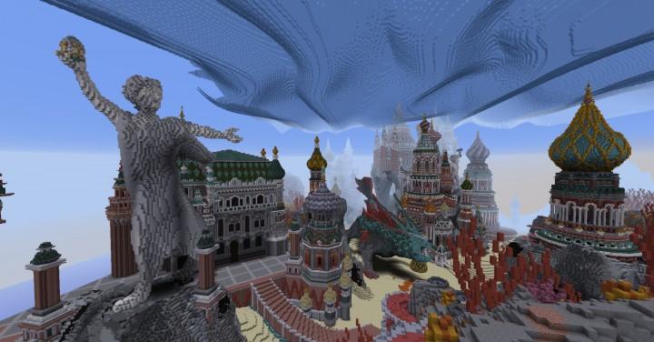 Faberzhe Palace minecraft underwater buiding idea sea castle tower 15