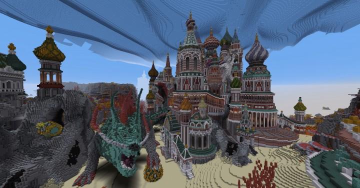Faberzhe Palace minecraft underwater buiding idea sea castle tower 17
