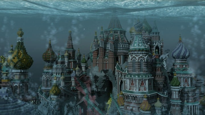 Faberzhe Palace minecraft underwater buiding idea sea castle tower 3