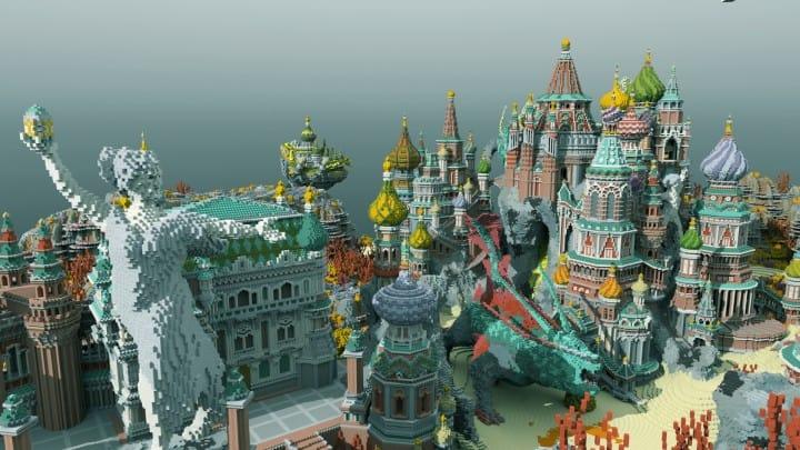 Faberzhe Palace minecraft underwater buiding idea sea castle tower 5