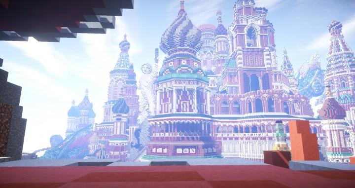 Faberzhe Palace minecraft underwater buiding idea sea castle tower 6