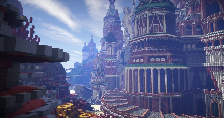 Faberzhe Palace minecraft underwater buiding idea sea castle tower 7