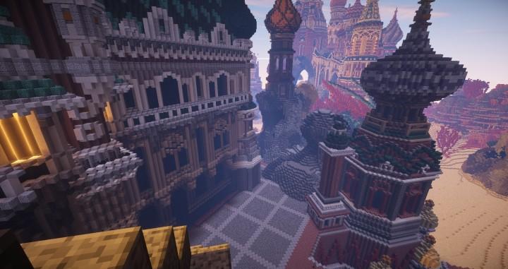 Faberzhe Palace minecraft underwater buiding idea sea castle tower 8