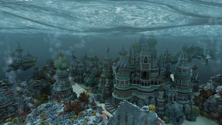 Faberzhe Palace minecraft underwater buiding idea sea castle tower