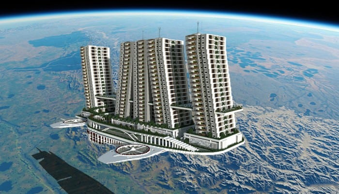 Flying Apartments minecraft building ideas download amazing