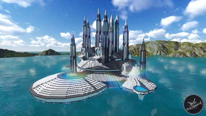 Futuristic Palace V2 minecraft building ideas download sea water tower amazing 2