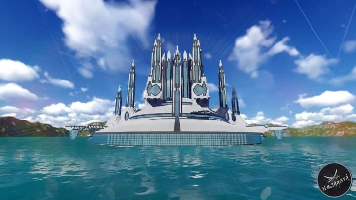 Futuristic Palace V2 minecraft building ideas download sea water tower amazing 3